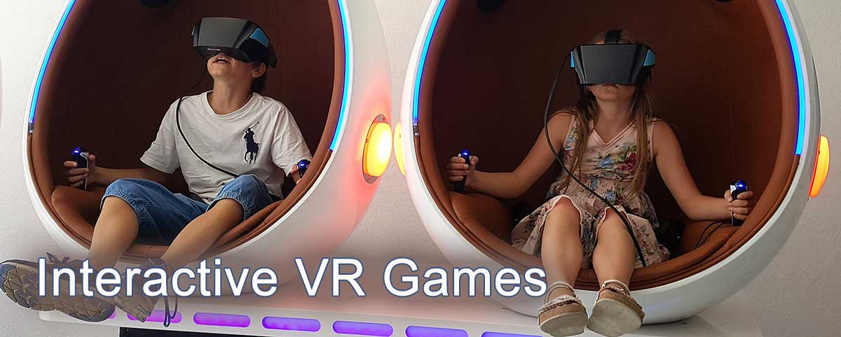 2-Seat Interactive Virtual Reality Games